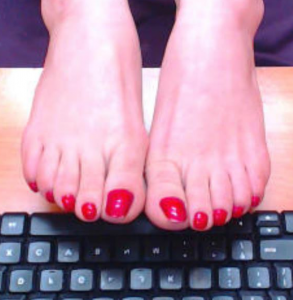 sexy foot on webcam